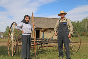 Farmers in Traditional Attire at the Ukrainian Village